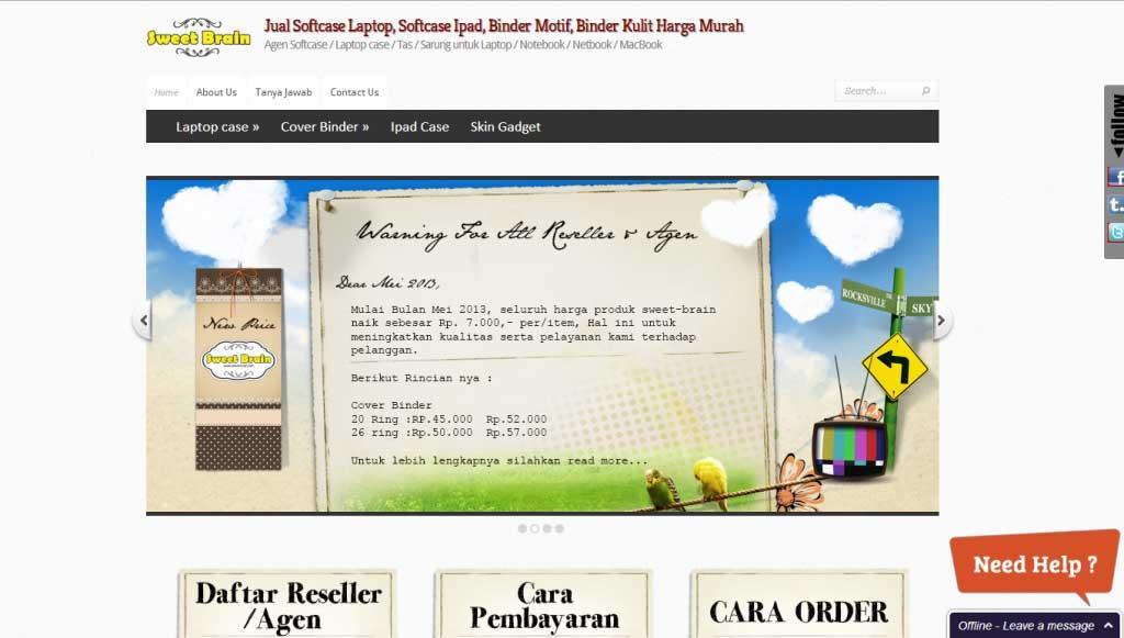 website-onlineshop-sweetbrain